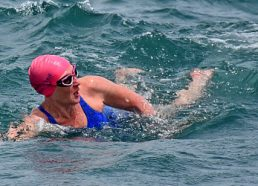Our very own Mrs McAlister is swimming the Channel