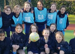 A rather chilly netball match