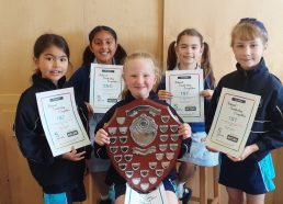 Winners of a national handwriting competition
